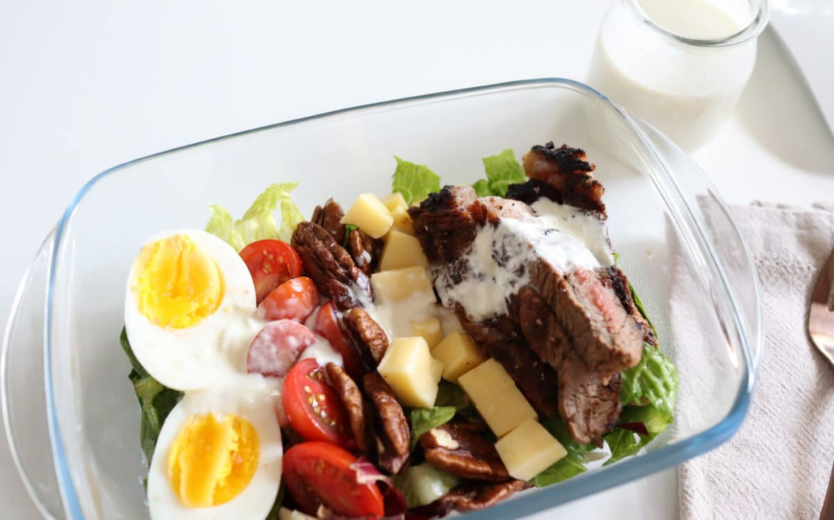 Keto Steak Cobb Salad Meal Prep1