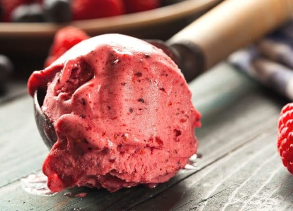 keto mixed berry sorbet
