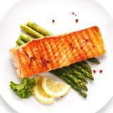 GRILLED SALMON WITH CREAMY LEMON SAUCE