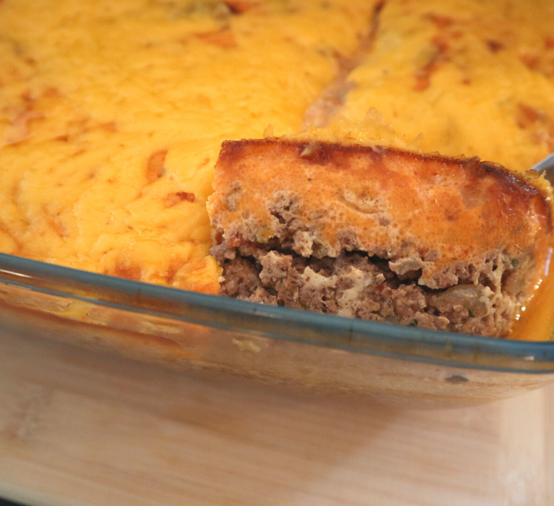 double bacon cheeseburger casserole